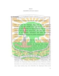 Perilaku Komunikasi Seksi Kebersihan Dan Lingkungan Hidup Studi