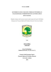 Kontribusi Samsat Keliling Terhadap Penerimaan Pajak Kendaraan Bermotor Pada Kantor Samsat Kota Padang Eskripsi Universitas Andalas
